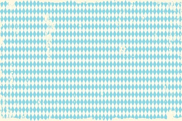 オクトーバーフェストビンテージブルーの市松模様の背景 Premiumベクター