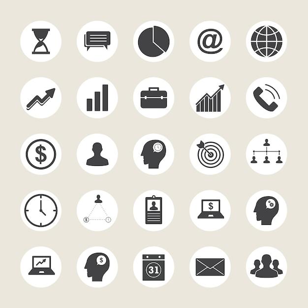 Коллекция бизнес-иконок Premium векторы