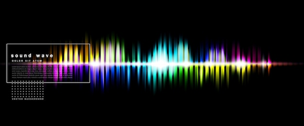 色の音波と抽象的な背景 Premiumベクター