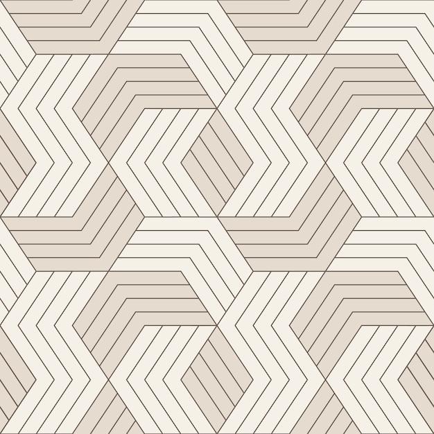 ベクターのシームレスなパターン。対称の幾何学的な線とのシームレスなパターン。幾何学的なタイルを繰り返します。 Premiumベクター