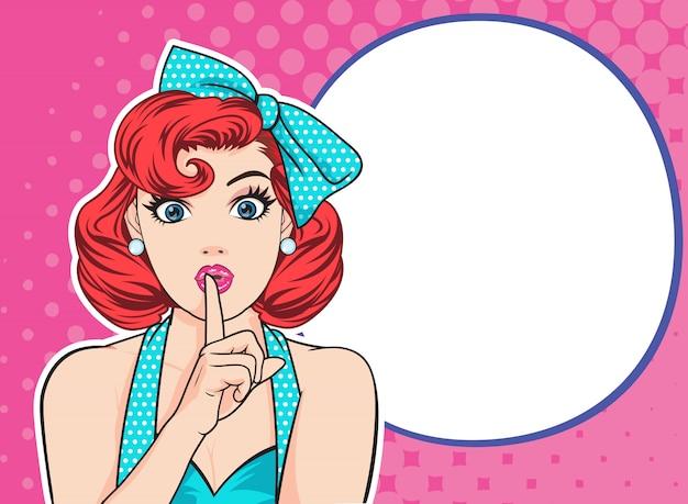 女性は沈黙を保つ Premiumベクター