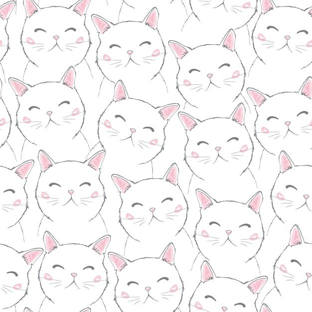 Симпатичные кошки Premium векторы