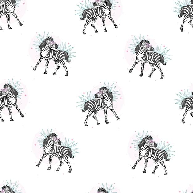 Зебра, сафари с принтом Premium векторы