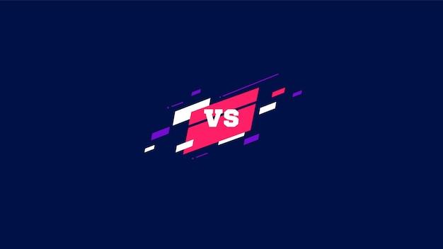 スポーツとの戦いのための文字対文字対。ベクトルイラスト Premiumベクター