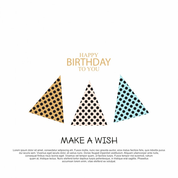 エレガントなデザインのベクトルと誕生日お祝いのカード 無料ベクター