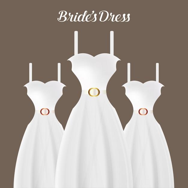 花嫁のドレス Premiumベクター