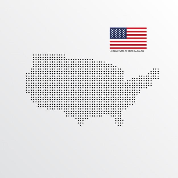 アメリカ合衆国南地図デザイン 無料ベクター