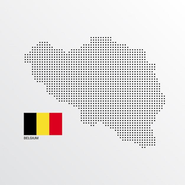 ベルギーの地図デザイン 無料ベクター