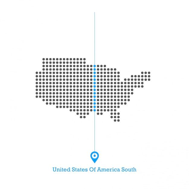 アメリカ合衆国南アイドルマップデザインベクトル Premiumベクター