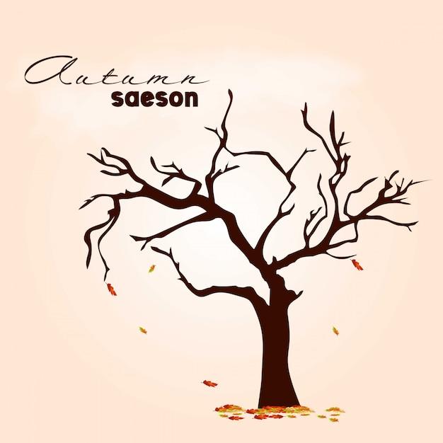 明るい背景ベクトルと秋のシーズンのデザイン 無料ベクター