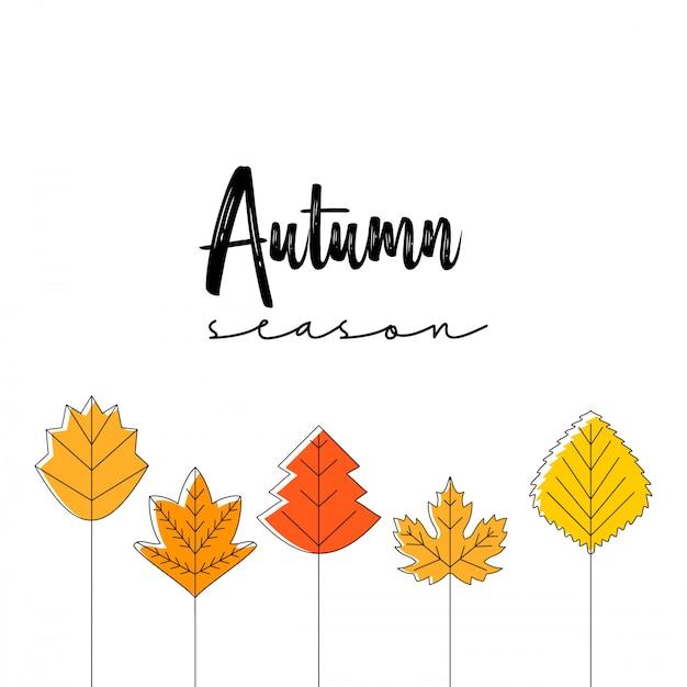 秋のタイポグラフィー 無料ベクター