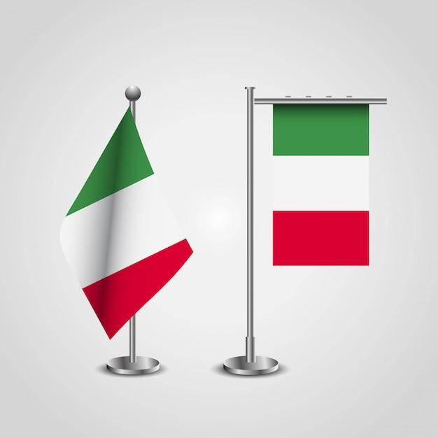 創造的なデザインのベクトルとイタリアの旗 無料ベクター
