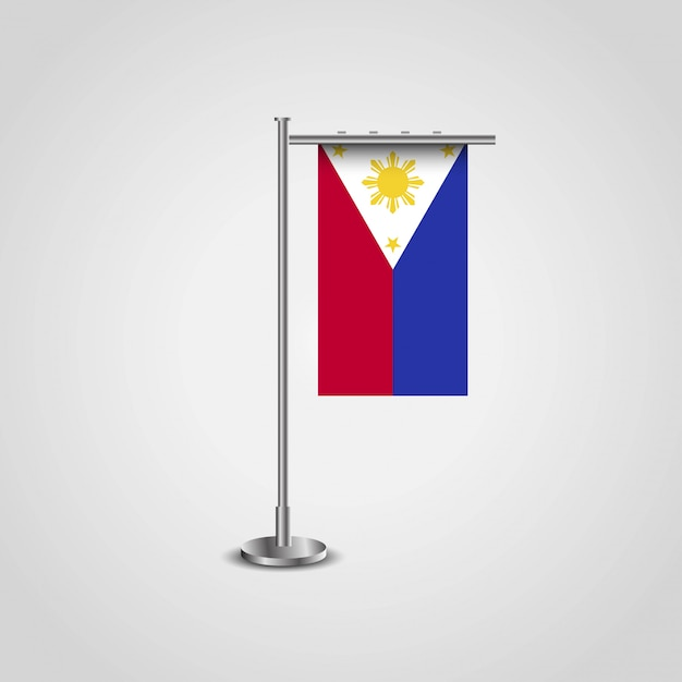 Филлипинский флаг с креативным вектором дизайна Бесплатные векторы