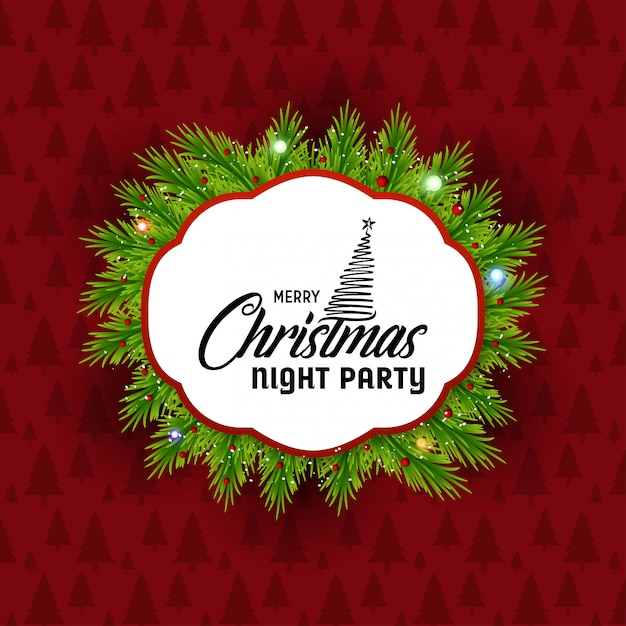Рождественская открытка с креативным дизайном и красным фоном Premium векторы