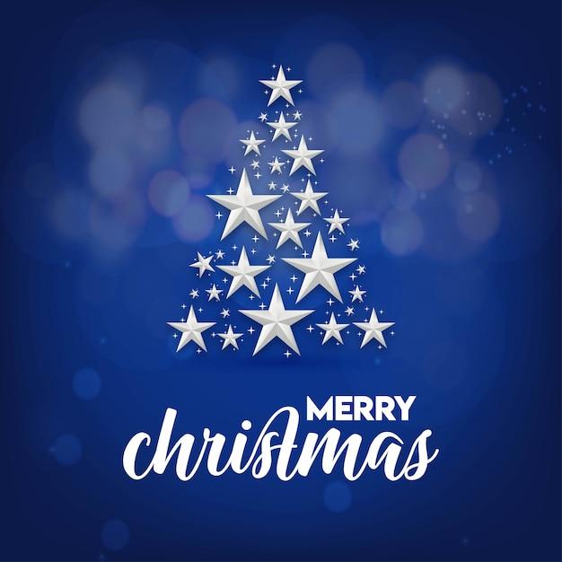 Дизайн рождественской открытки с элегантным дизайном и творческим фоном Premium векторы