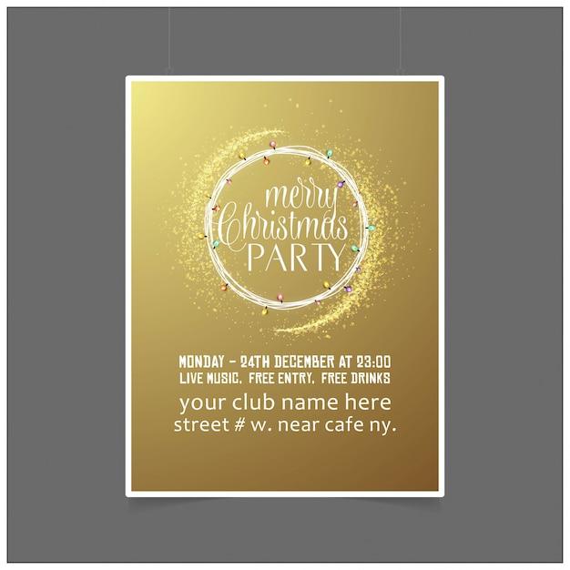 Рождественская открытка с элегантным дизайном и творческим фоном Premium векторы