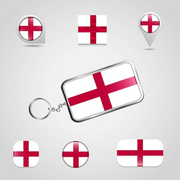 Англия великобритания флаг страны Premium векторы