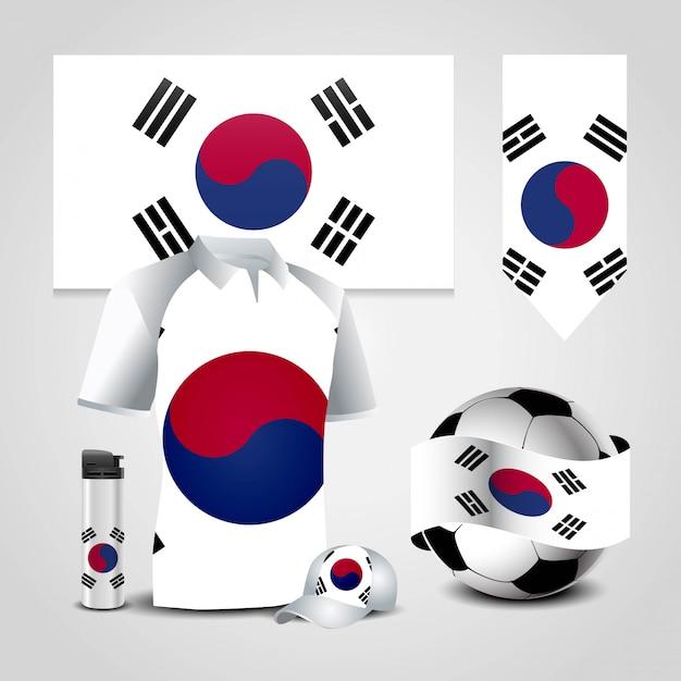 韓国国旗 Premiumベクター