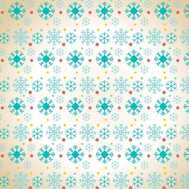 クリスマススノーフレークパターンの背景 無料ベクター