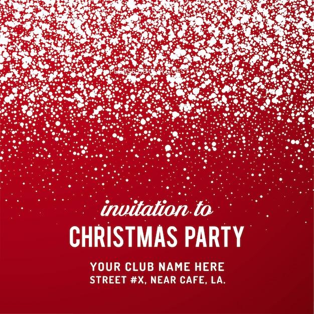メリークリスマスパーティ招待状の背景 無料ベクター