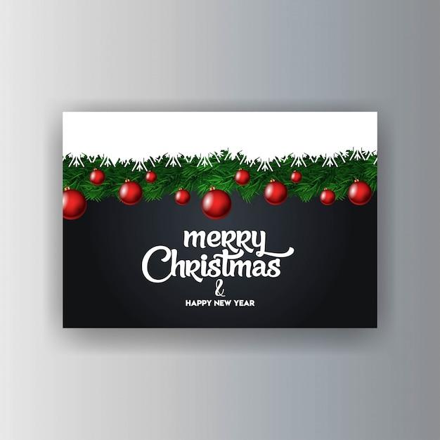 メリークリスマス装飾的なヴィンテージの背景 無料ベクター