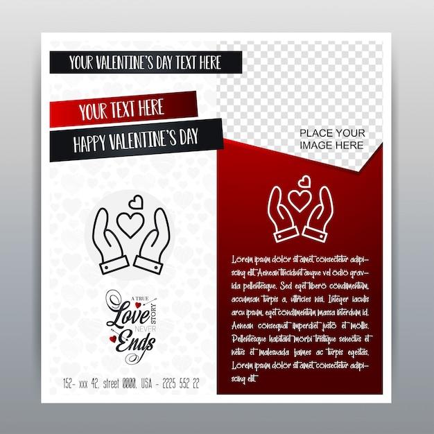 幸せなバレンタインデー赤いアイコン垂直バナー赤い背景。ベクトルイラスト 無料ベクター