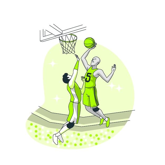 Баскетбольная концепция иллюстрации Бесплатные векторы