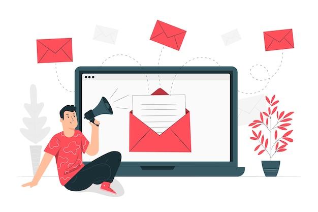 Иллюстрация концепции кампании по электронной почте Бесплатные векторы