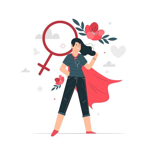 女性の概念図 無料ベクター