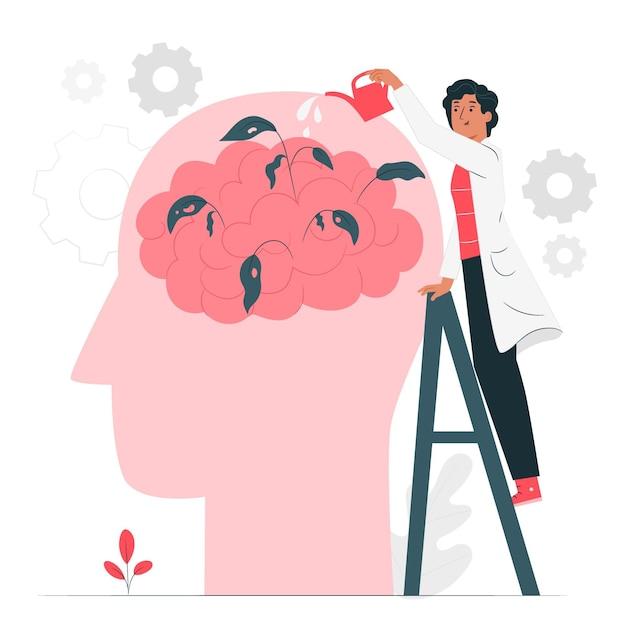 Иллюстрация концепции психического здоровья Бесплатные векторы