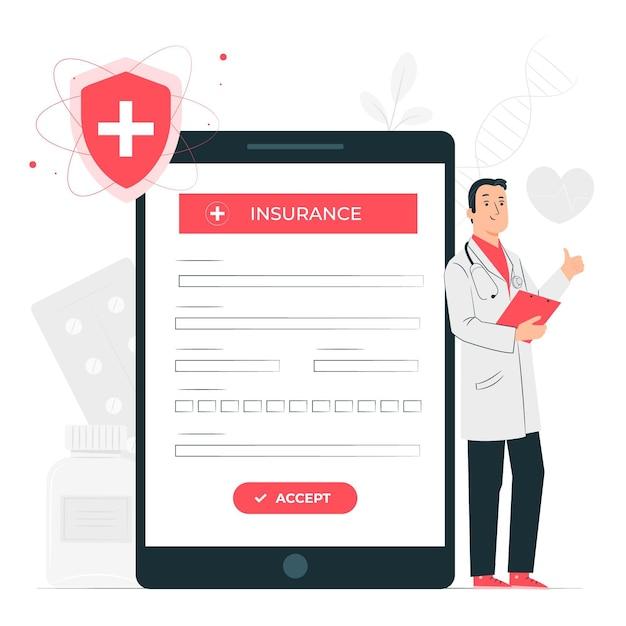 保険の概念図 無料ベクター