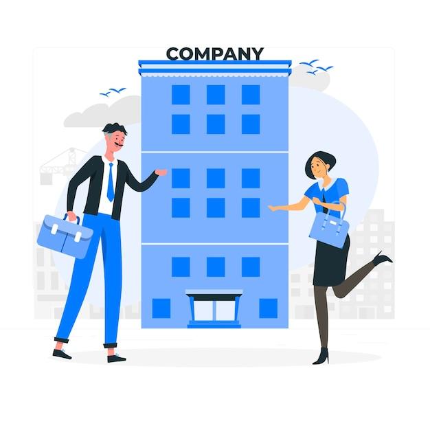 Иллюстрация концепции компании Бесплатные векторы