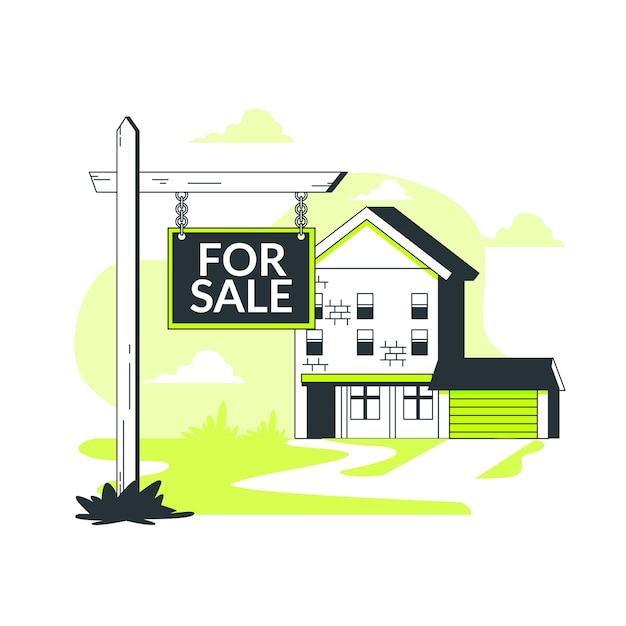 Иллюстрация концепции недвижимости Бесплатные векторы