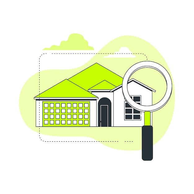 Дом, поиск концепции иллюстрации Бесплатные векторы