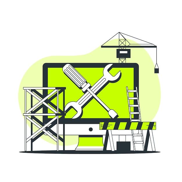 Иллюстрация концепции обслуживания Бесплатные векторы