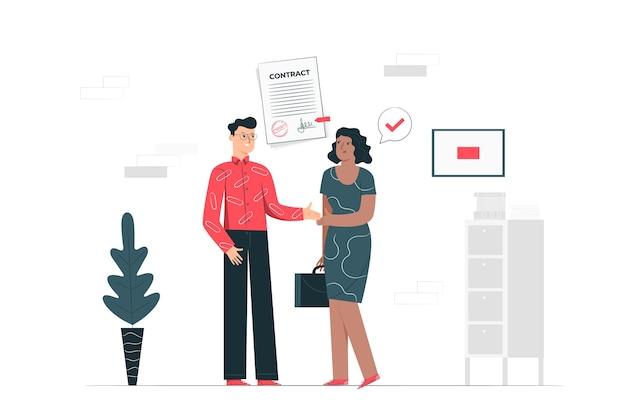 Иллюстрация концепции соглашения Бесплатные векторы