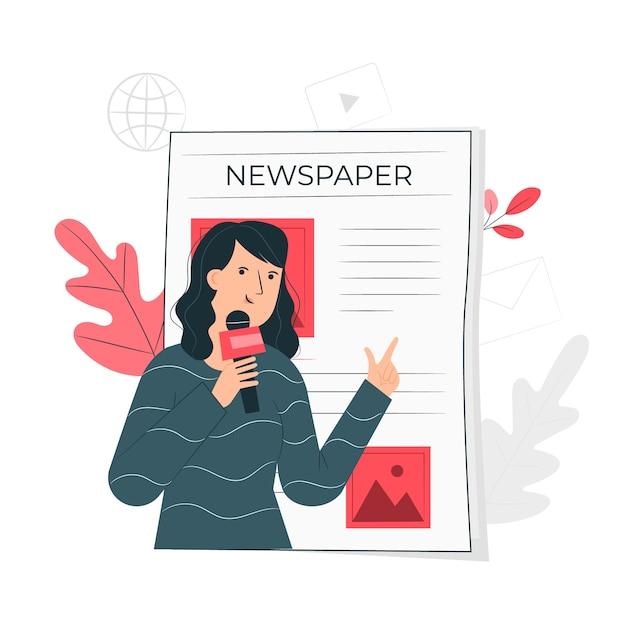 Новости концепция иллюстрации Бесплатные векторы