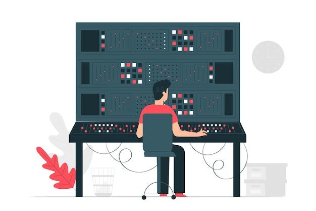 Иллюстрация концепции панели управления Бесплатные векторы