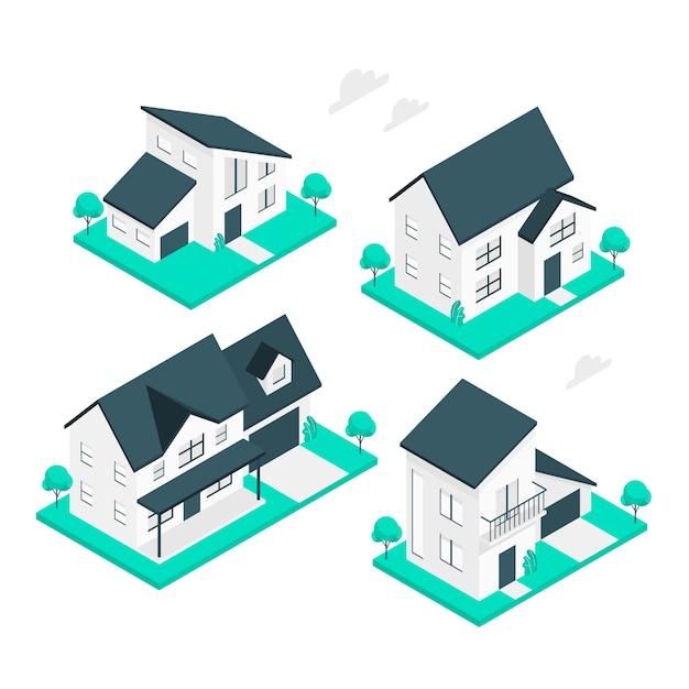 Иллюстрация концепции дома Бесплатные векторы