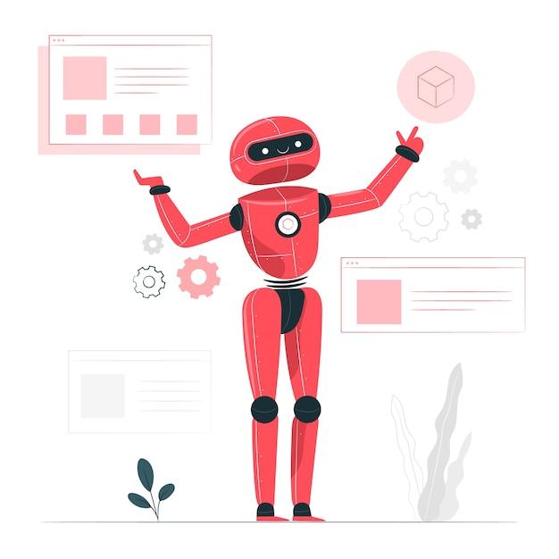 Иллюстрация концепции искусственного интеллекта Бесплатные векторы