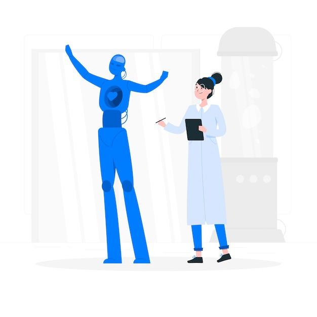 人工知能の概念図 無料ベクター