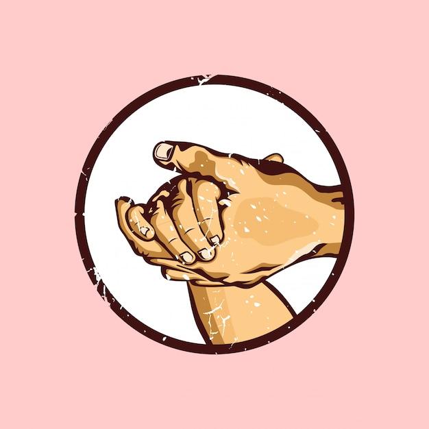 Рука об руку Premium векторы