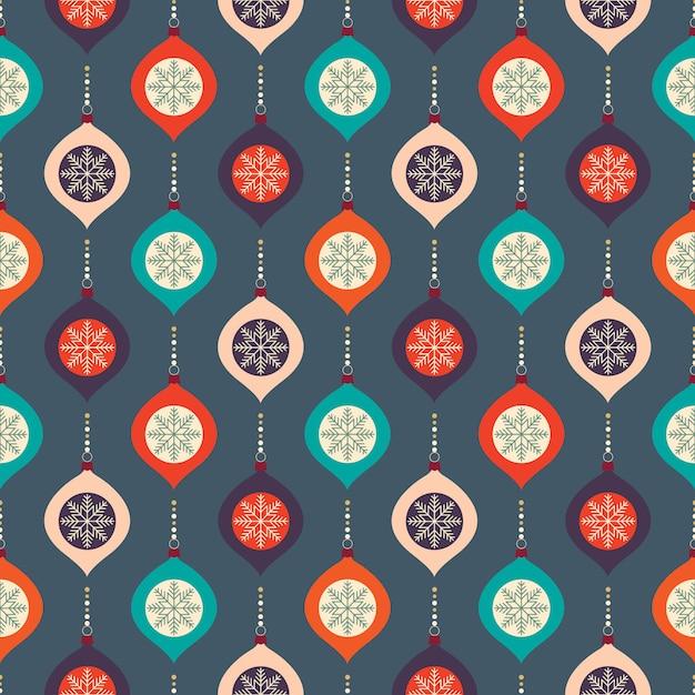 装飾的なデザインとクリスマスのシームレスパターン Premiumベクター