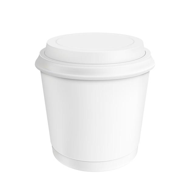コーヒーカップ。イラストの分離 Premiumベクター