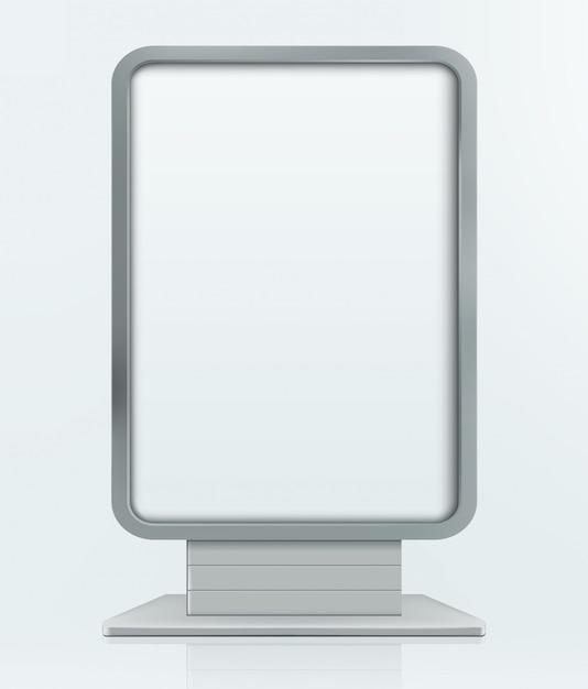 Наружная реклама стенд рекламный щит. изолированных иллюстрация Premium векторы