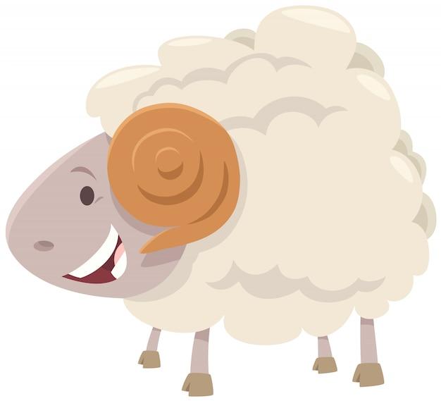 ハッピーラム羊農場の動物キャラクター Premiumベクター