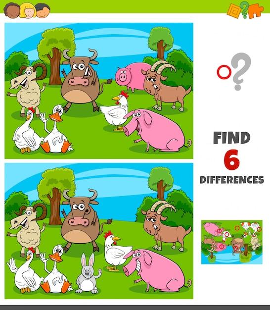 農場のキャラクターとの違いゲーム Premiumベクター
