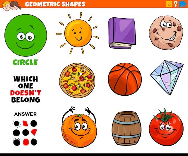 子供のための円形状の教育課題 Premiumベクター