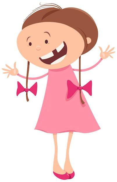 Смешная девочка рисунок с косичками, мамам
