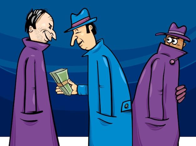 犯罪や腐敗の漫画のイラスト Premiumベクター